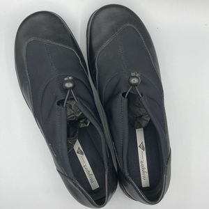 Easy Spirit Anti-Gravity Black Leather Shoe  9W